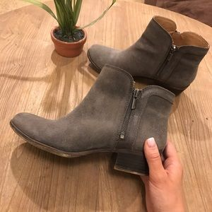 Distressed Lucky Brand Ankle Booties, Size 9